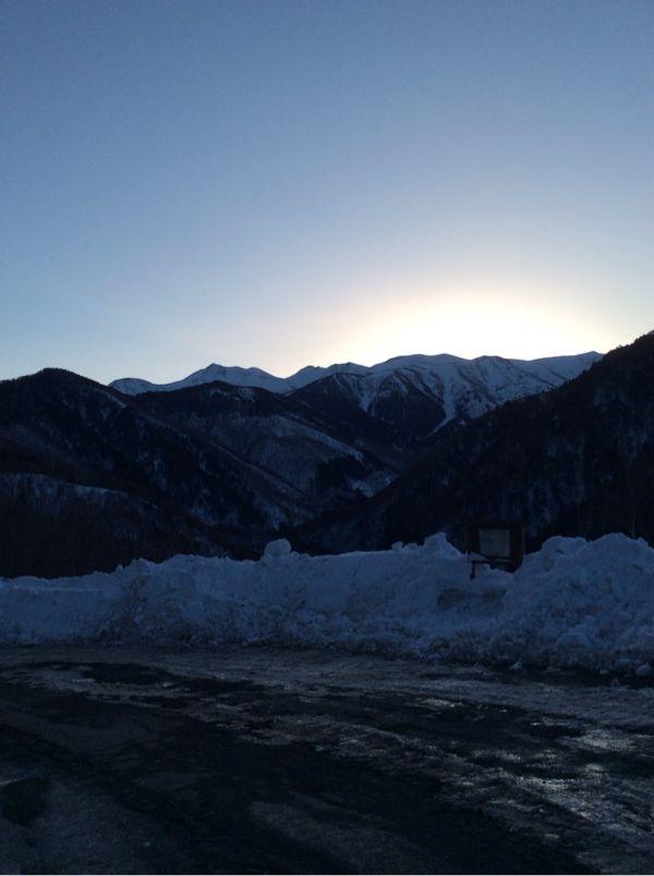 乗鞍高原↔︎白骨温泉から見える乗鞍岳